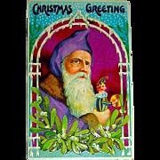 Stunning Pristine German Santa Claus Postcard, Extraordinarily Rare!