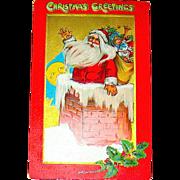 "Kathleen Gassaway Santa Claus ""Crimson and Gold Series"" Christmas Postcard (2 of 4)    free shipping"