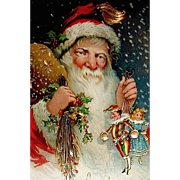 German Schmucker Designed Early Santa Claus GEL Postcard