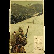 Mailick Unsigned Weinachtsmann Santa Claus Postcard