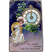 Tuck and Sons New Year's Good Luck Symbols Postcard