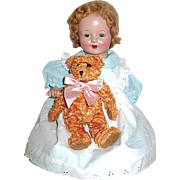 Adorable Horsman Composition Rosebud Doll—Great Condition, Original Mohair Wig