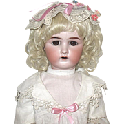 "Gorgeous 24"" Antique German Bisque Mystery Doll on Composition BJB"