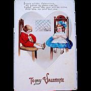 "IAP Clapsaddle Valentine Postcard—""To My Valentine"""