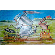 HTF Winsch Fantasy Easter Rabbits and Jack Frost Series Postcard (2 of 3)