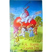 HTF Winsch Fantasy Easter Rabbits and Jack Frost Series Postcard (3 of 3)