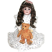 "Gorgeous Sweet French Market Simon Halbig Doll - 20"" - free shipping"