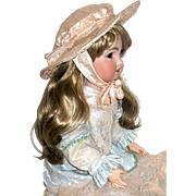 Gorgeous Peach Colored Silk Hat for Large French or German Doll
