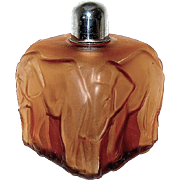 Exceedingly Rare CZECH Art Deco Elephant Perfume Bottle