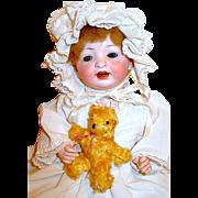 """Sweet Hertel & Schwab 12"""" Character Baby Doll w Original Wig"""