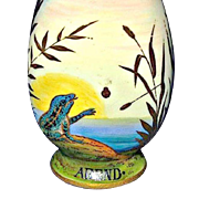 19th Century Austrian Scent Bottle - Fantasy Day and Night Nature Scenes