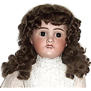 Gorgeous Brown Natural Mohair Wig Sz. 13-14--free shipping