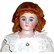 Beautiful Vintage Fashion Doll Auburn Mohair Wig Sz  7-8""