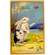 Nash Easter Postcard--Rabbit Plays Diabolo    free shipping
