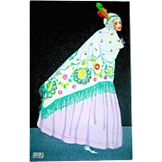 Gorgeous Ladies High Fashion Postcard by Mela Koehler