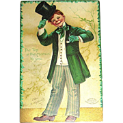 Signed 1908 Clapsaddle Saint Patrick's Day Postcard