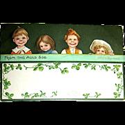 Signed Ellen Clapsaddle St. Patrick's Day Postcard