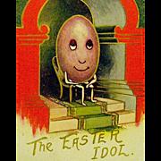 HTF Humanized Egg Easter Idol Postcard