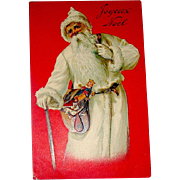 1905 French Father Christmas / Santa Claus Rare Christmas Postcard