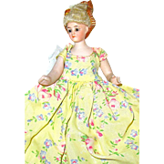 "Rare Carl Schirmer mold 556 German Bisque & Cloth 7"" Lady Doll"