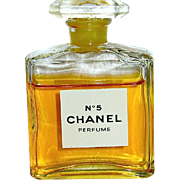 Vintage Chanel No. 5 Original Pure Perfume W Both Boxes