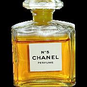 Vintage Chanel No. 5 Original Pure Perfume W Both Boxes