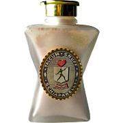 "40's Schiaparelli ""SNUFF"" Talcum Powder in Retro Designed Figural Bottle"