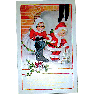 Christmas Postcard - Whitney Nimble Nooks Deliver Gifts & Fill Stockings