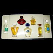 Vintage Guerlain Mini Full Perfume Bottles Boxed Set, Popular Fragrances