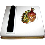 """Full """"Glistening Acorn"""" Perfume Compact -- Designer SIGNED by Jay Strongwater - Both Boxes"""