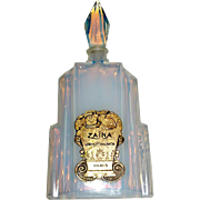 French Opalescent Deco Skyscraper Perfume Bottle with Paris Label