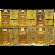 Vintage Unused Mary Chess Set of Six Full Miniature Bottles and 18 Nips