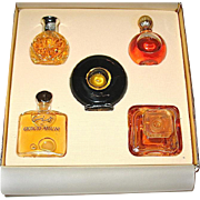 MIB Miniature Set of 5 Full Perfume Bottles - Armani, Picasso, Lauren, Lancome, Lanvin