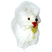 Adorable Vintage Miniature German Dollhouse White Fur Dog