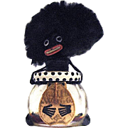 "Vigne ""Golliwogg"" Miniature Perfume Bottle—Sealed, Great Hair!"