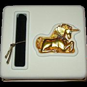 MIBB, Full Magical Unicorn, 2001 Estee LauderSolid Perfume Compact