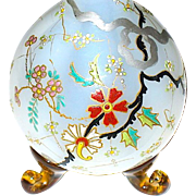 Gorgeous Pristine 19th C. Unsigned Moser Oriental Designed Perfume Bottle