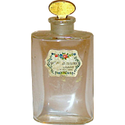 HTF - Two Early French Crystal Mini Bottles for Houbigant Fragrances
