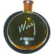 "Worth's Full ""Je Reviens"" Mini Purse Bottle Marked ""Lalique"" in Marked Pouch"