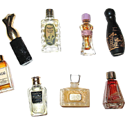 Set of Seven Vintage Miniature / MINI Perfume Bottles