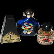 SET of Seven Micro-Mini Perfume Bottles, Three w Contents