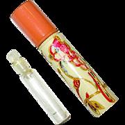 Vintage German Decorated Galalith Mini Perfume Bottle Holder