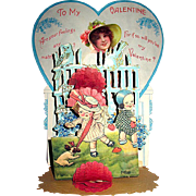 Exceptional Freixas Signed Large Pop Up Honeycomb Valentine's Day Display Card, Postcard Related