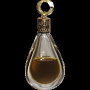 Magie de Lancome Teardrop Perfume Bottle Pendant w Contents
