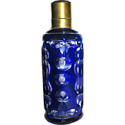Beautiful Antique Victorian Cobalt Cut to Clear Crystal Scent Bottle