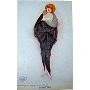 "Raphael Kirchner Signed ""LOLOTTE!"" Unused Glamour Woman Postcard"