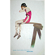 "Raphael Kirchner Signed ""ROSALBA"" Unused Glamour Woman Postcard"