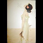 Raphael Kirchner Signed Beautiful Art Nouveau Woman Postcard