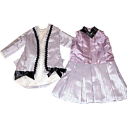 "Pretty Lavender Walking Suit / Dress for 22"" - 24"" German Or French Doll"