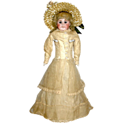 Beautiful Bahr & Proschild Open Mouth Pouty Doll - ORIGINAL GOWN - Perfect Cabinet Size